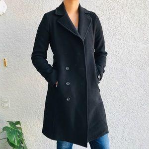 J. Crew black wool topcoat day coat dressy 4